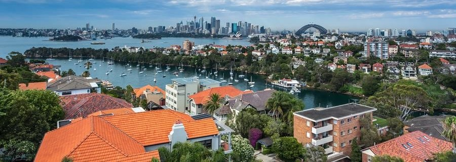 Sydney Harbour and houses
